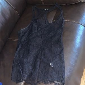 Ana black lace tank